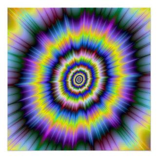 Poster Explosion de couleur l'affiche parfaite de Zazzle
