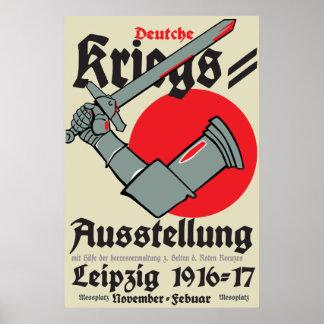 Poster Exposition allemande de guerre de l'affiche WW1 à