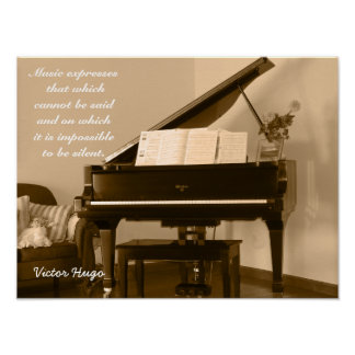 Poster Express de musique -- Citation de Victor Hugo -