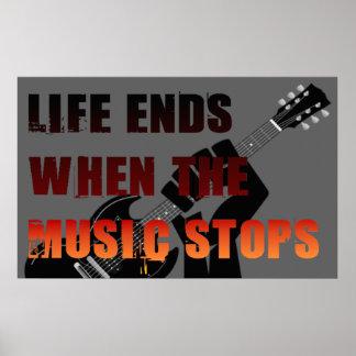 Poster Extrémités de la vie quand la musique s'arrête