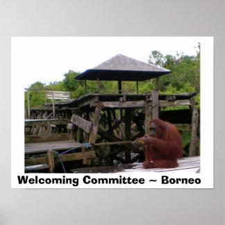 Poster Faire bon accueil au voyage du Bornéo du Comité