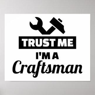Poster Faites confiance que je je suis un artisan