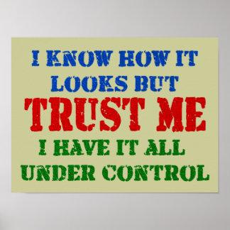 Poster Faites- confiancemoi - tout sous le contrôle