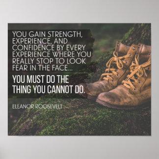 Poster Faites les choses que vous ne pouvez pas