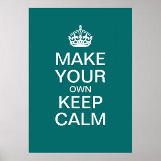 Poster Faites vos propres garder l'affiche calme (le modè