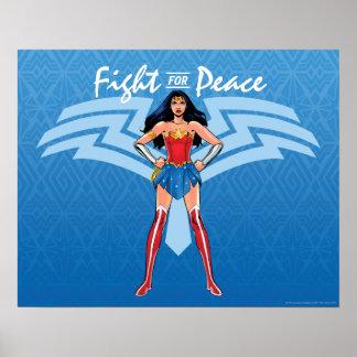 Poster Femme de merveille - combat pour la paix