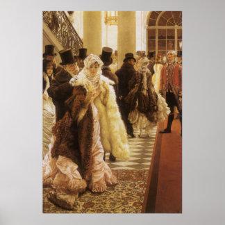 Poster Femme de mode par Tissot, art victorien vintage