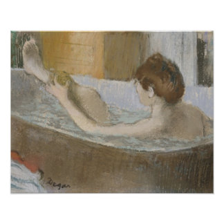 Poster Femme d'Edgar Degas   à son Bath, épongeant sa
