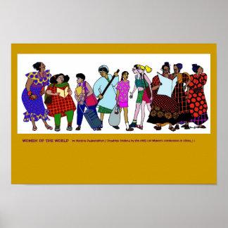 Poster Femmes de l'AFFICHE du monde