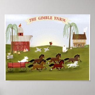 Poster Ferme et animaux familiers personnalisés la ferme