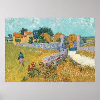 Poster Ferme reconstituée de Van Gogh en Provence France
