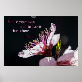 Poster Fermez vos yeux, automne en affiche de Rumi