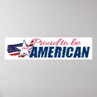 Poster Fier d'être un Américain