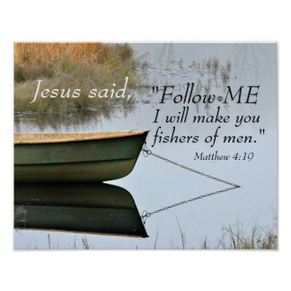 Poster Fisher d'écriture sainte des hommes, vers de bible