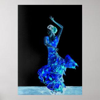 Poster Flamenco foncé