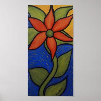 Poster Fleur abstraite