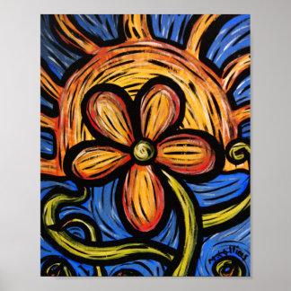 Poster Fleur abstraite moderne