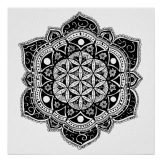 Poster Fleur de mandala de la vie