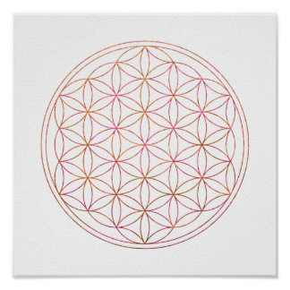 Poster Fleur sacrée de la géométrie de la vie (V-Coucher
