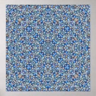 Poster Fleuri de luxe géométrique