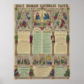 Poster Foi catholique sainte vintage Infographic