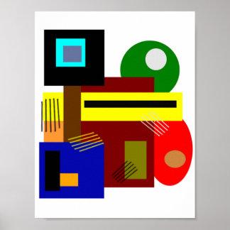 Poster Formes et couleurs d'abrégé sur art moderne