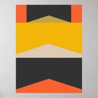 Poster Formes géométriques modernes d'art abstrait de la