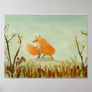 Poster Fox pelucheux
