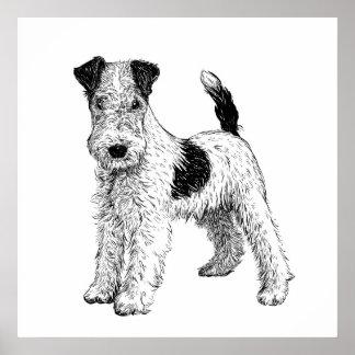 Poster Fox Terrier d'art d'affiche/mur de chien