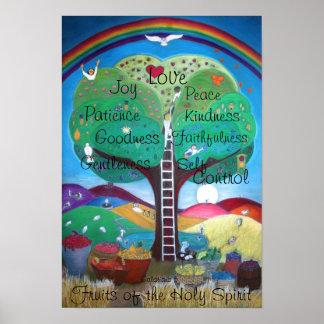 Poster Fruits de l'affiche de Saint-Esprit - nouvelle