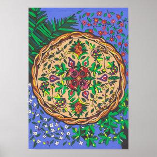 Poster Fruits de mandala de l'Israël