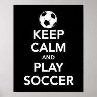 Poster Gardez la copie ou l'affiche du football de calme