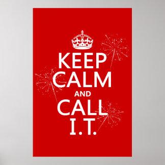 Poster Gardez le calme et appelez-LE (toute couleur)