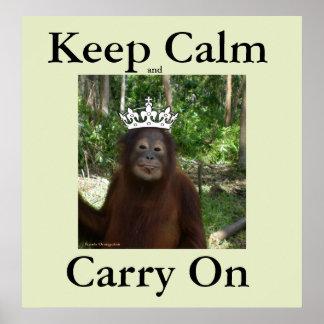 Poster Gardez le calme et continuez