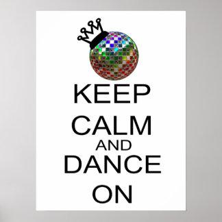 Poster Gardez le calme et dansez dessus