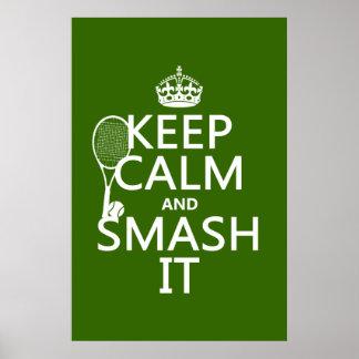 Poster Gardez le calme et le fracas il (tennis) (toute