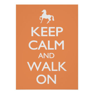 Poster Gardez le calme et marchez dessus