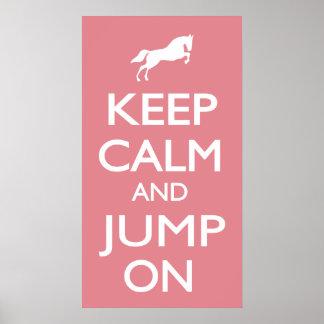 Poster Gardez le calme et sautez dessus