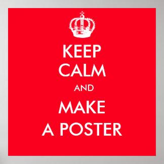 Poster gardez personnalisable calme