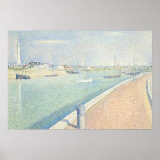 Poster Georges Seurat - la Manche de Gravelines
