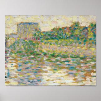 Poster Georges Seurat - la Seine chez Courbevoie