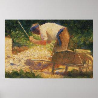 Poster Georges Seurat - le briseur en pierre