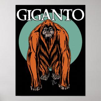 Poster Gigantopithecus