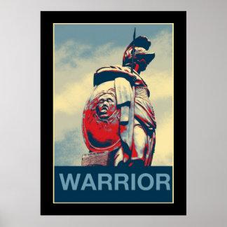 Poster Gladiateur romain de guerrier spartiate antique de