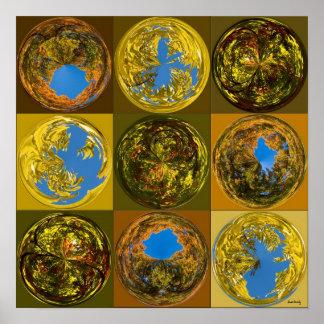 Poster globes de chute ou d'automne