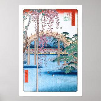 Poster Glycines aux beaux-arts de Hiroshige de tombeau de