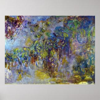 Poster Glycines par Claude Monet, impressionisme vintage