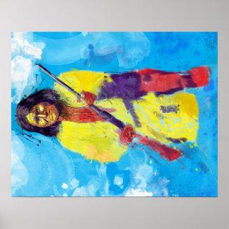 """Poster Goyaałé """"la personne qui baîlle"""" - Geronimo"""
