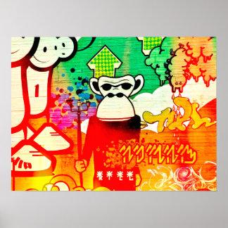 Poster Graffiti de singe