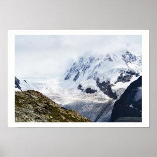 Poster Grand glacier dans les alpes suisses